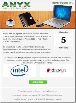Anyx Intel y Kingston
